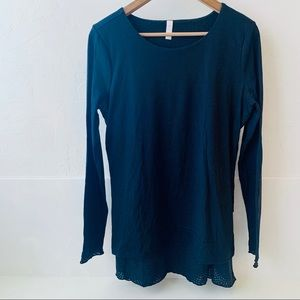 Lucy long sleeve black layered shirt ruffle L